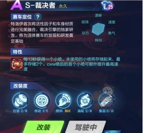 QQ飞车手游S裁决者怎么改装?S裁决者最新改装分支推荐图片2