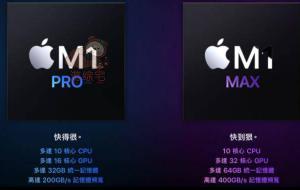 最强晶片M1 Pro及M1 Max规格、性能对比